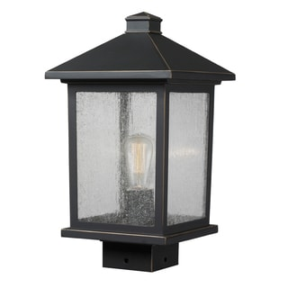Z-Lite Portland 1-Light Black Post Light
