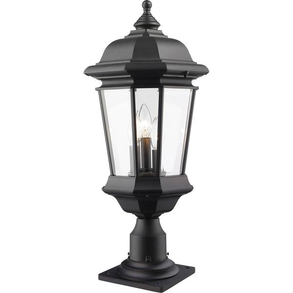 Shop Avery Home Lighting Melbourne 3-Light Black Outdoor