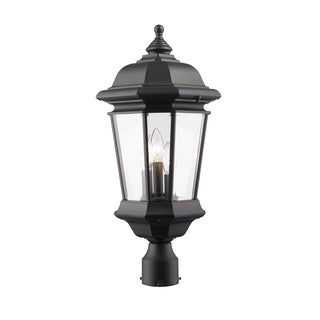 Z-Lite Melbourne 3-Light Black Outdoor Post Mount Light