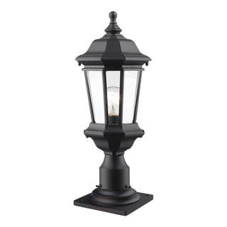 Z-Lite Melbourne 1-Light Black Outdoor Pier Mount Light