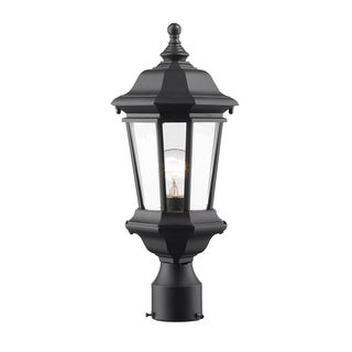 Z-Lite Melbourne 1-Light Black Outdoor Post Light