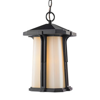 Z-Lite Harbor Lane 1-Light Black Outdoor Chain Light