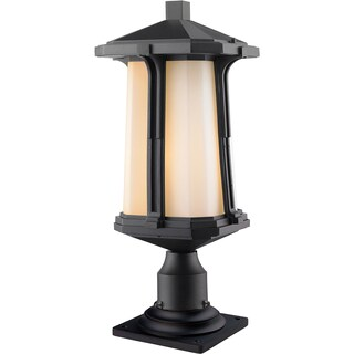 Z-Lite Harbor Lane 1-Light Black Outdoor Pier Mount Light