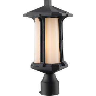 Z-Lite Harbor Lane 1-Light Black Outdoor Post Mount Light