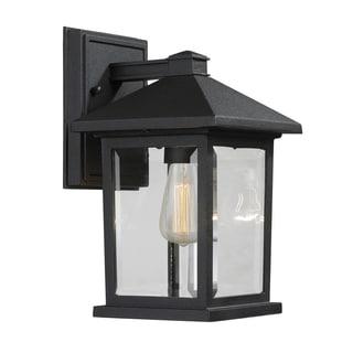 Z-Lite Portland 1-Light Black Outdoor Wall Light