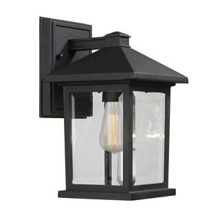 Avery Home Lighting Portland 1-Light Black Outdoor Wall Light
