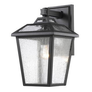 Z-Lite Bayland 1-Light Black Outdoor Wall Light