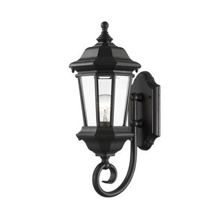 Z-Lite Melbourne 1-Light Black Outdoor Wall Light