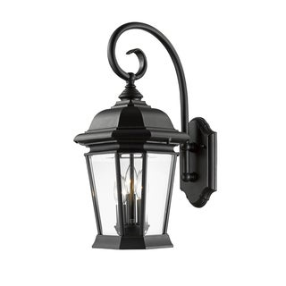 Z-Lite Melbourne 3-Light Black Outdoor Wall Light