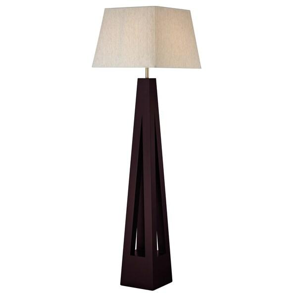 Avery Home Lighting 1-light Mahogany Floor Lamp