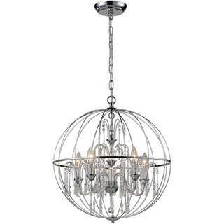 Z-Lite Laia 5-Light Chrome Orb Pendant