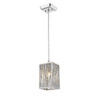 Z-Lite Terra 1-Light Square Chrome Mini Pendant
