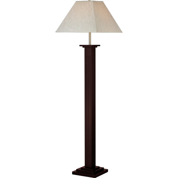Avery Home Lighting 1 Light Mahogany Floor Lamp