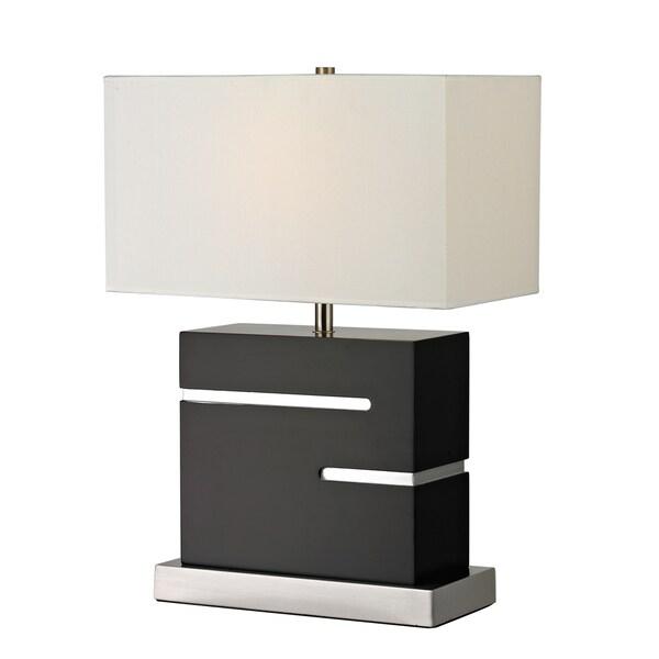 Z-Lite 1-Light Black Table Lamp