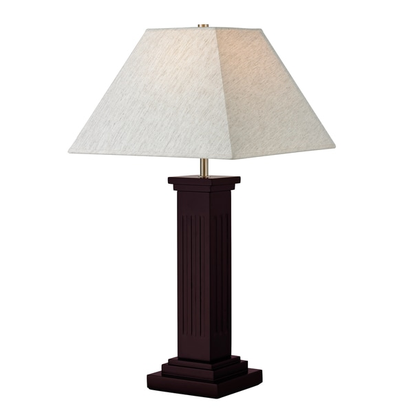 Avery Home Lighting 1-Light Mahogany Table Lamp