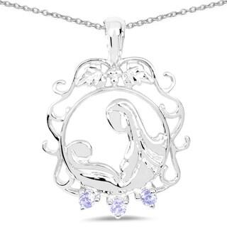 Malaika 0.11 Carat Genuine Tanzanite .925 Sterling Silver Pendant