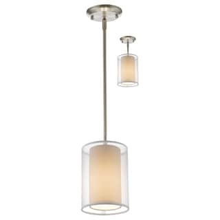 Z-Lite Sedona 1-light White Brushed Nickel Mini Pendant
