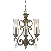 Avery Home Lighting Melina 3-Light Bronze Chandelier