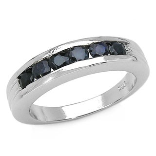 Link to Malaika 1.04 Carat Genuine Black Sapphire .925 Sterling Silver Ring Similar Items in Earrings
