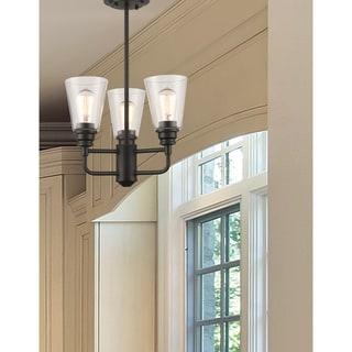Z-Lite Annora 3-light Olde Bronze Clear Glass Semi-Flush Mount