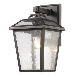 Avery Home Lighting Bayland 1-Light Outdoor Bronze Wall Light