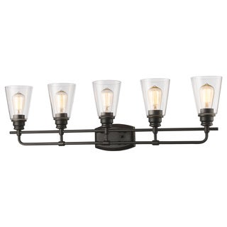Z-Lite Annora 5-light Olde Bronze Vanity