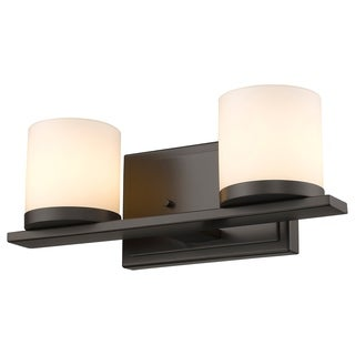 Z-Lite Nori 2-light Bronze Matte Opal Glass Shade Vanity