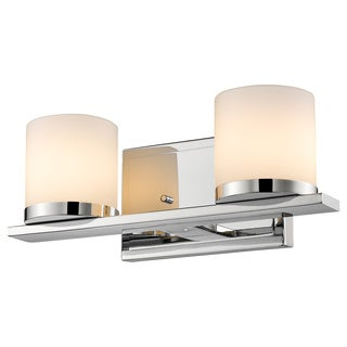 Z-Lite Nori 2-light Chrome Matte Opal Glass Shade Vanity
