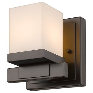 Z-Lite Cadiz 1-light Matte Opal Shade Wall Sconce