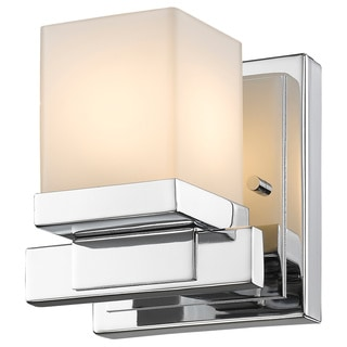 Z-Lite Cadiz 1-light Chrome Matte Opal Shade Wall Sconce