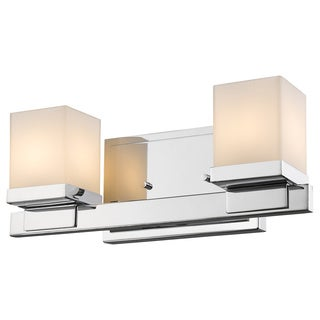 Z-Lite Cadiz 2-light Chrome Matte Opal Glass Shade Vanity