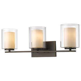 Z-Lite Willow 3-light Inner Matte Opal and Outer Clear Vanity