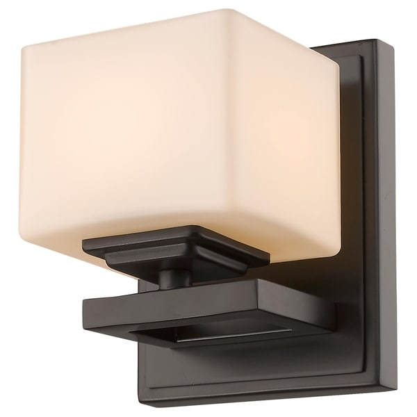 Cuvier 1-light Bronze Matte Opal Wall Sconce