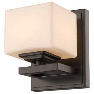 Cuvier 1-light Bronze Matte Opal Wall Sconce