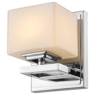 Z-Lite Cuvier 1-light Matte Chrome Opal Wall Sconce