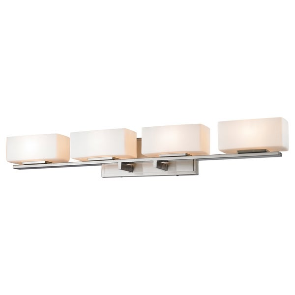 Z-Lite Kaleb 4-light Chrome Matte Opal Vanity