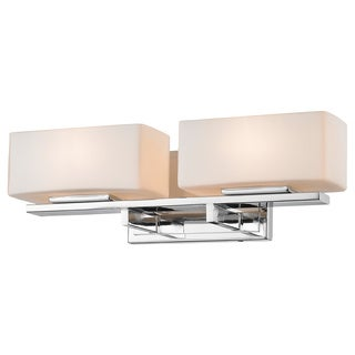 Z-Lite Kaleb 2-light Chrome Matte Opal Vanity