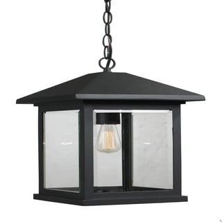 Z-Lite Portland 1-light Matte Black Outdoor Pendant
