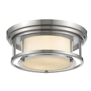 Luna 2-light Matte Opal Flush Mount