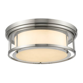 Z-Lite Luna 4-light Matte Opal Glass Shade Flush Mount