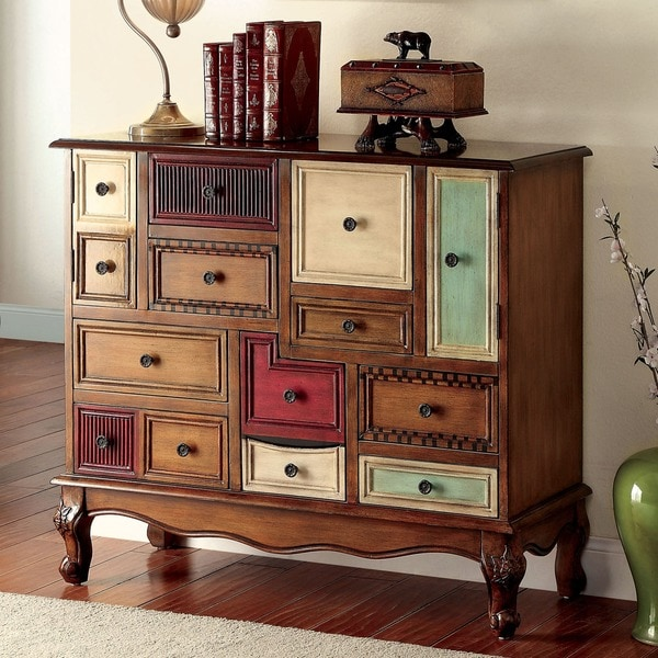 Furniture of America Cirque Vintage Style Multi-colored Chest - Free Shipping Today - Overstock ...