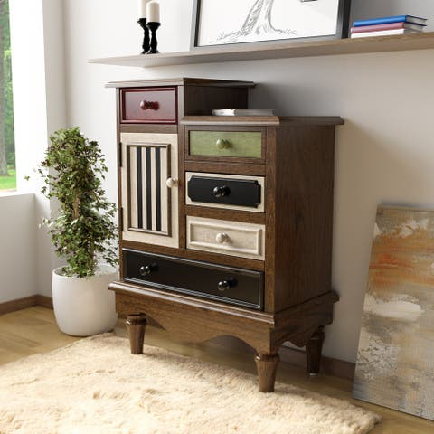 Furniture of America Sole Vintage Multi-color Solid Wood Chest