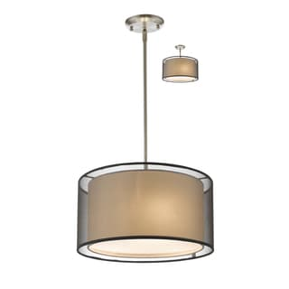 Z-Lite Sedona Black 3-light Pendant