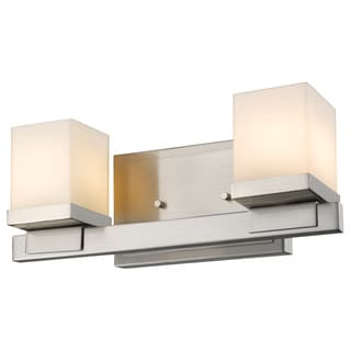 Z-Lite Cadiz 2-light Matte Opal Glass Shade Vanity
