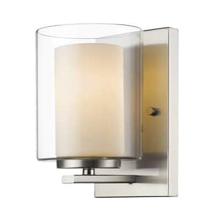 Z-Lite Willow 1-light Brushed Nickel Wall Sconce