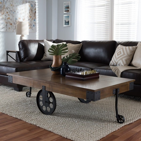 home coffee and table design iron wood metal interior rustic