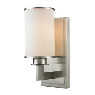 Z-Lite Savannah 1-light Matte Opal Shade Wall Sconce