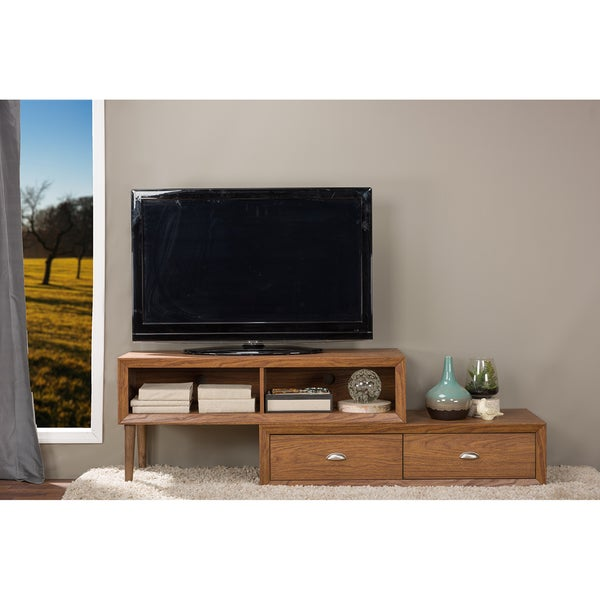brown tv stand by baxton studio