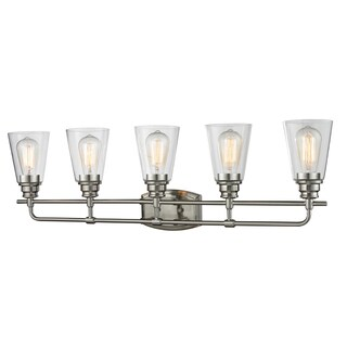 Avery Home Lighting Annora 5-light Brushed Nickel Vanity