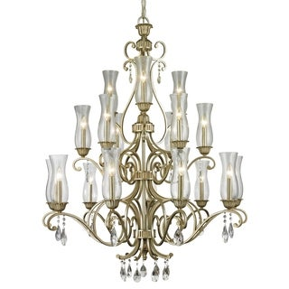Z-Lite Melina 18-Light Antique Silver Chandelier